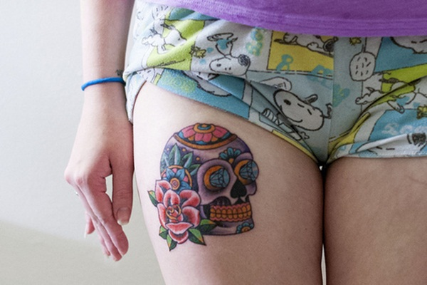 Sugar Skull Tattoo Meaning (11)