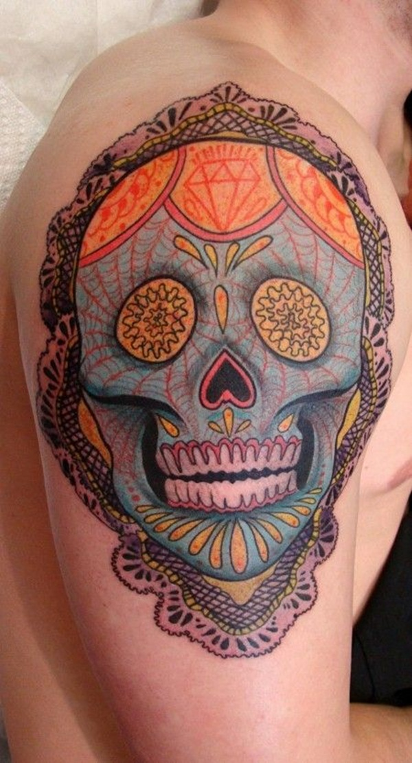 Sugar Skull Tattoo Meaning (13)