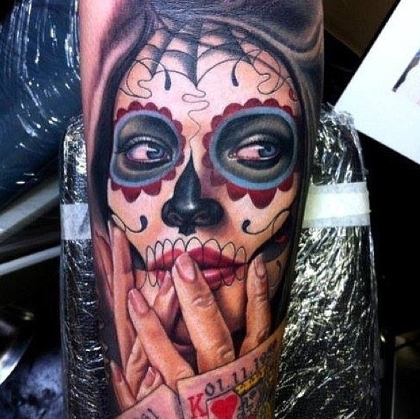 Sugar Skull Tattoo Meaning (17)