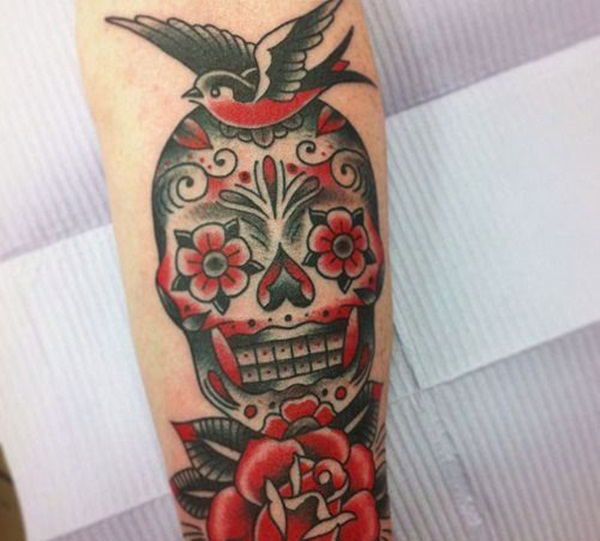 Sugar Skull Tattoo Meaning (19)