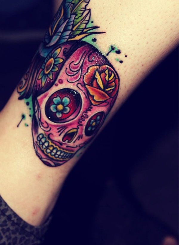 Sugar Skull Tattoo Meaning (24)