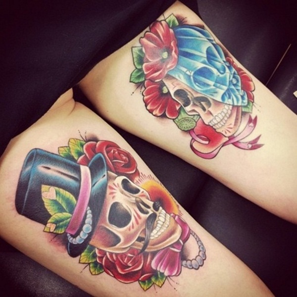 Sugar Skull Tattoo Meaning (29)
