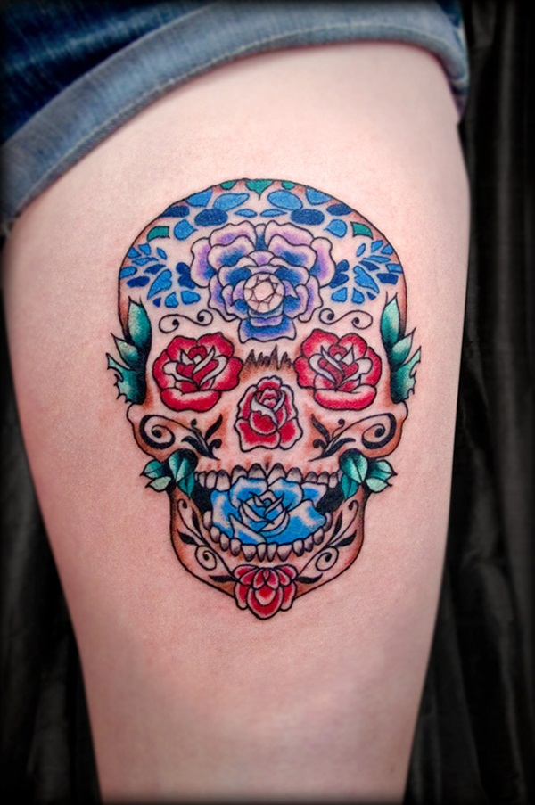 Sugar Skull Tattoo Meaning (35)