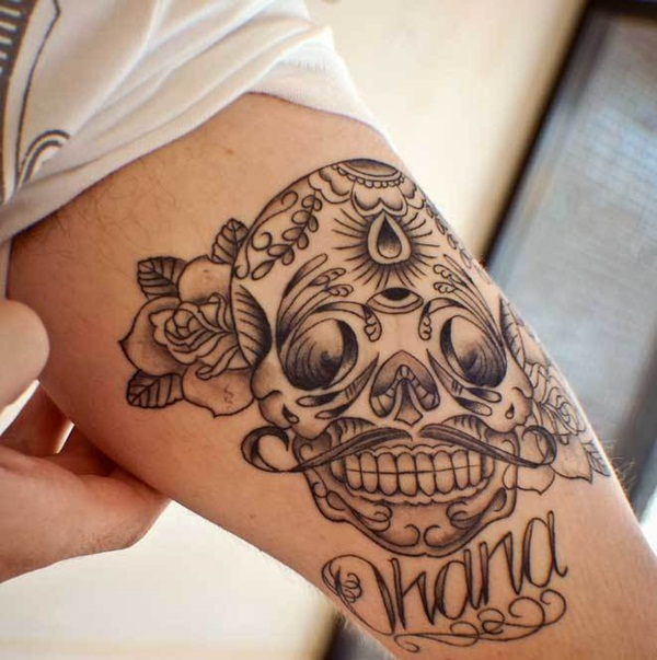 Sugar Skull Tattoo Meaning (36)