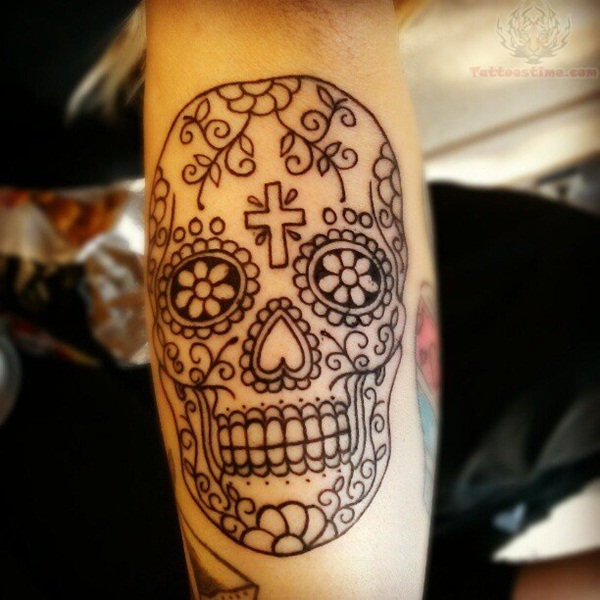 Sugar Skull Tattoo Meaning (41)