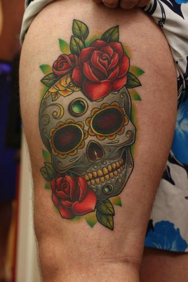 Sugar Skull Tattoo Meaning (44)