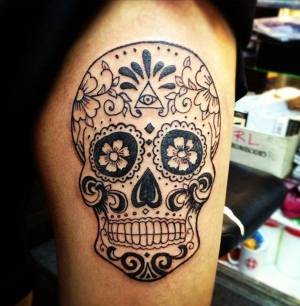 Sugar Skull Tattoo Meaning (46)
