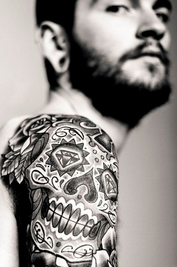 Sugar Skull Tattoo Meaning (6)