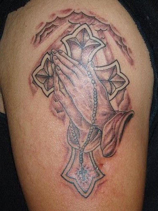 Praying hand tattoo (11)