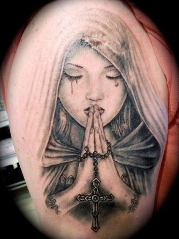 Praying hand tattoo (29)