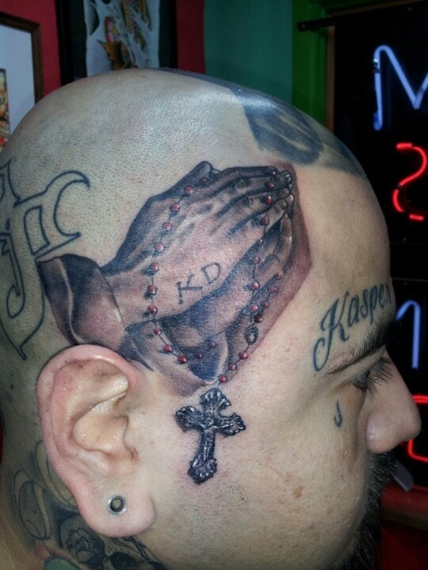 Praying hand tattoo (32)