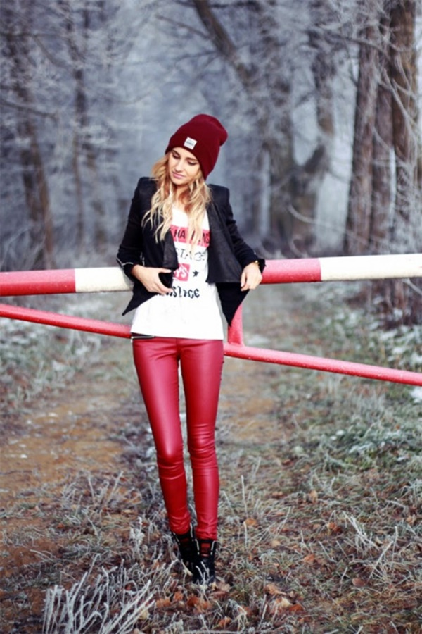 Leather Pants Outfits Ideas (101)