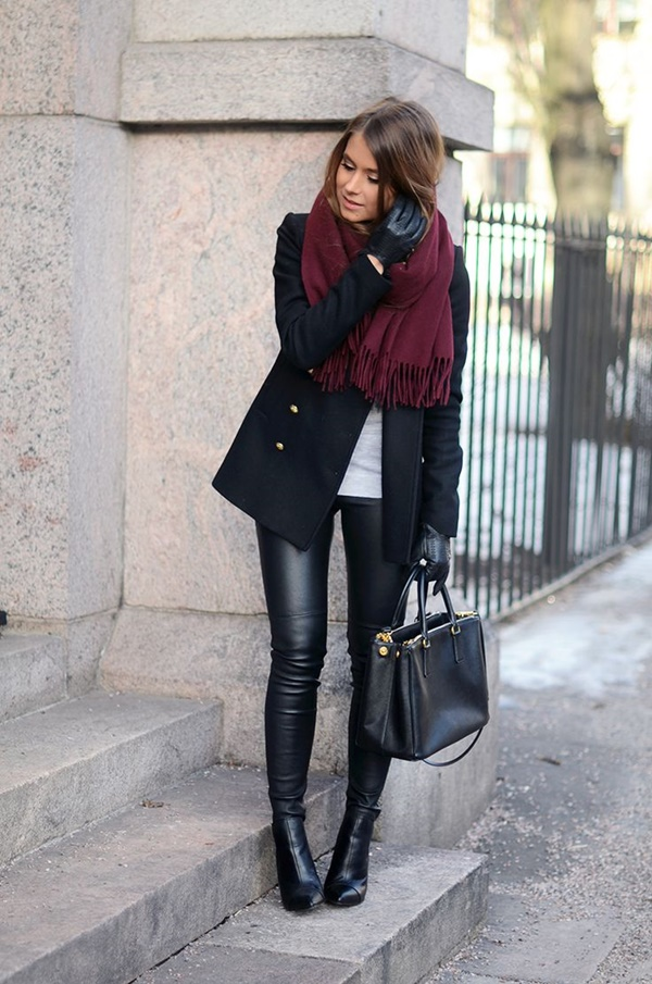 Leather Pants Outfits Ideas (63)