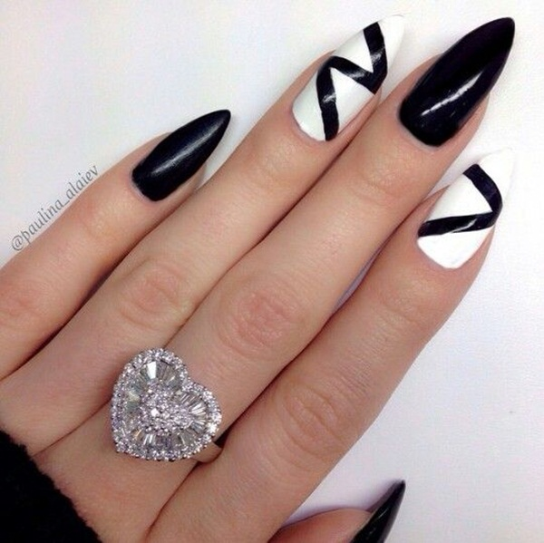 Most Attractive black and white nail art designs (10)