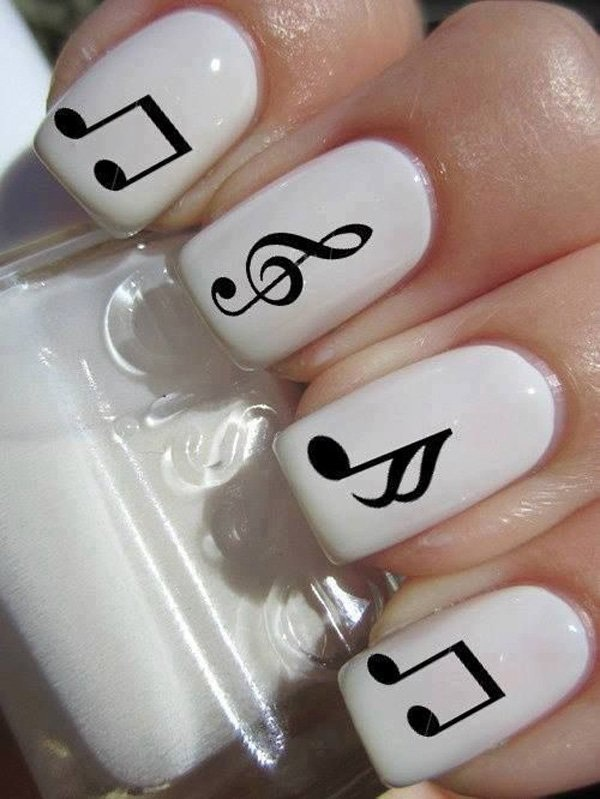 Most Attractive black and white nail art designs (13)