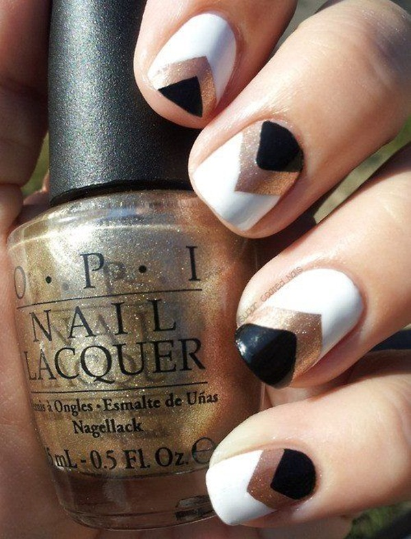 Most Attractive black and white nail art designs (16)