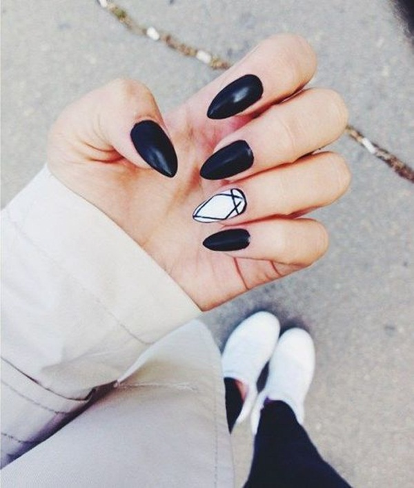 Most Attractive black and white nail art designs (17)