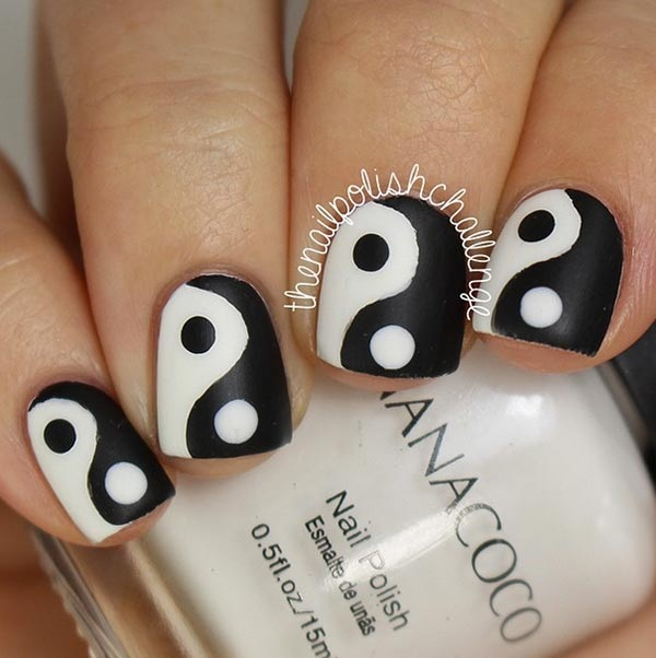 Most Attractive black and white nail art designs (2)