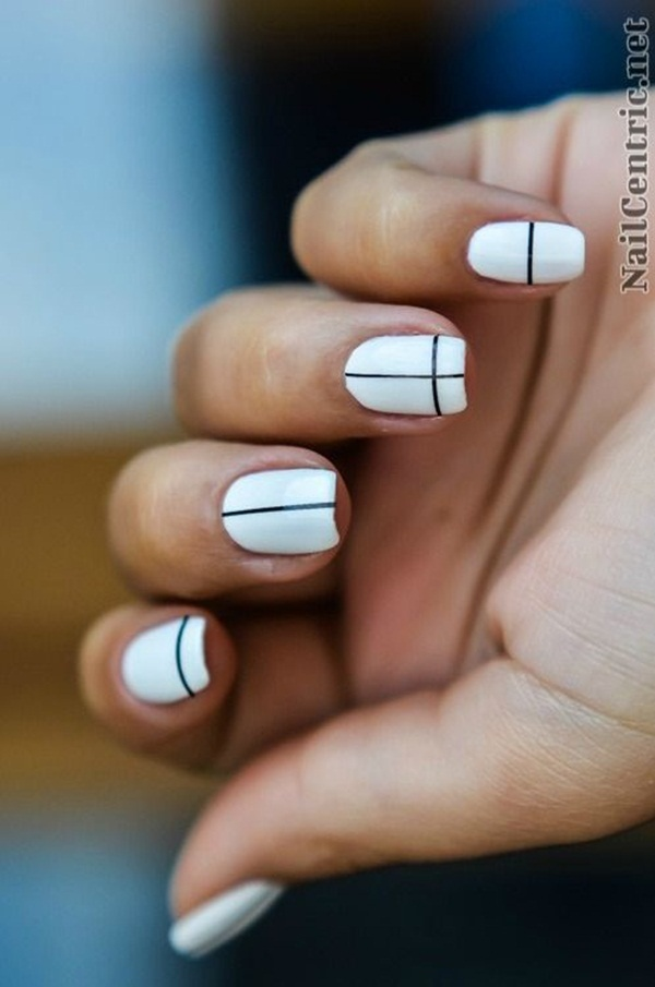 Most Attractive black and white nail art designs (21)