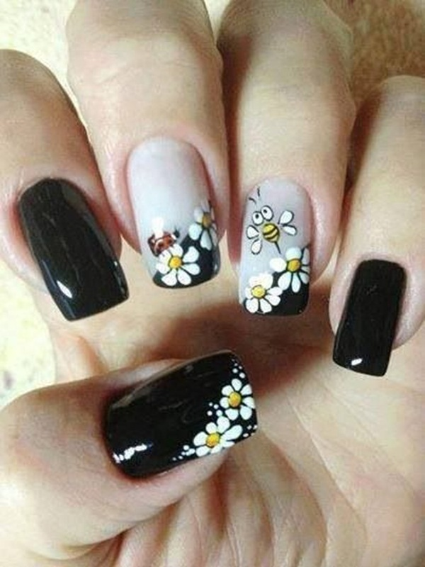 Most Attractive black and white nail art designs (24)