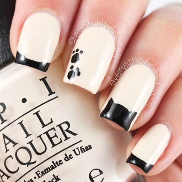 Most Attractive black and white nail art designs (25)