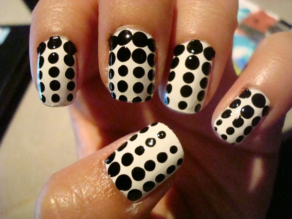 Most Attractive black and white nail art designs (26)