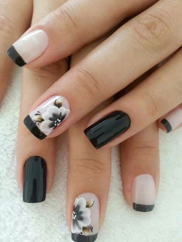 Most Attractive black and white nail art designs (29)