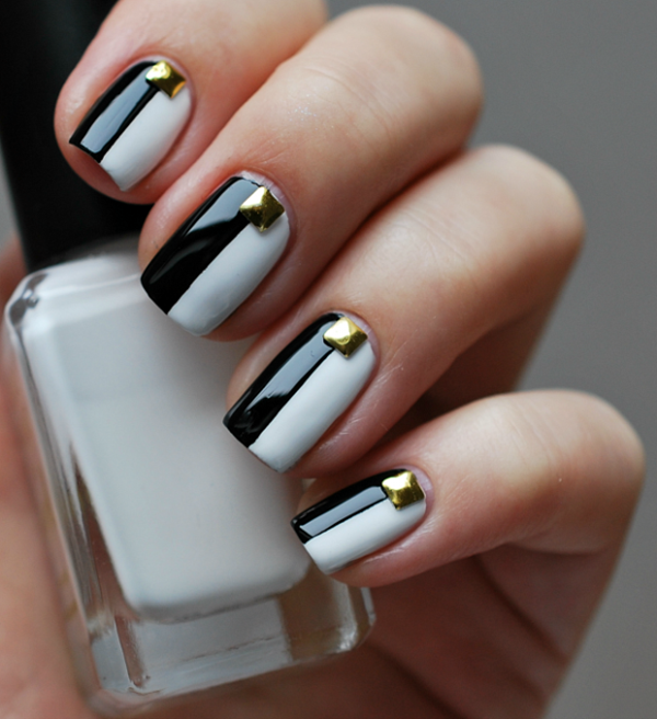 Most Attractive black and white nail art designs (3)