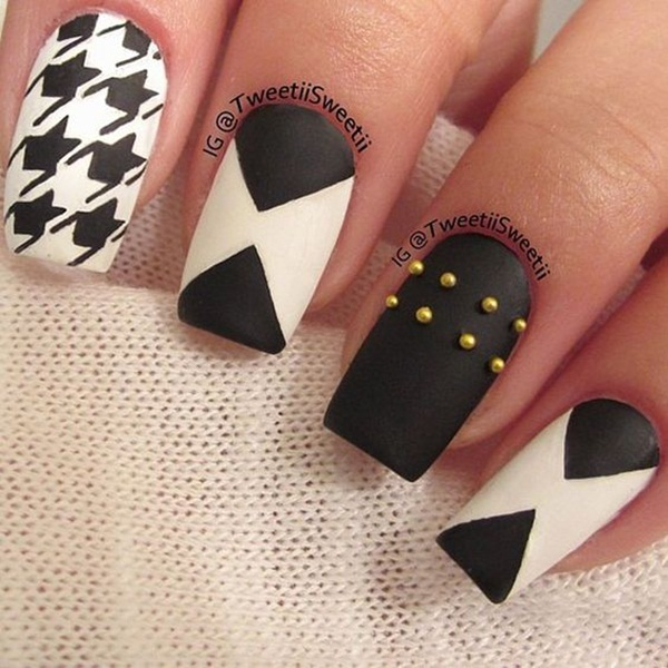Most Attractive black and white nail art designs (31)