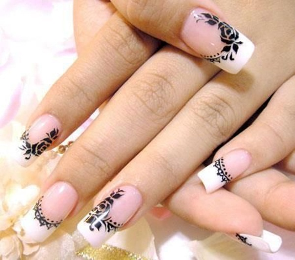 Most Attractive black and white nail art designs (33)