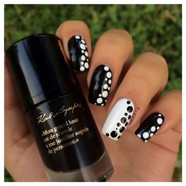 Most Attractive black and white nail art designs (35)