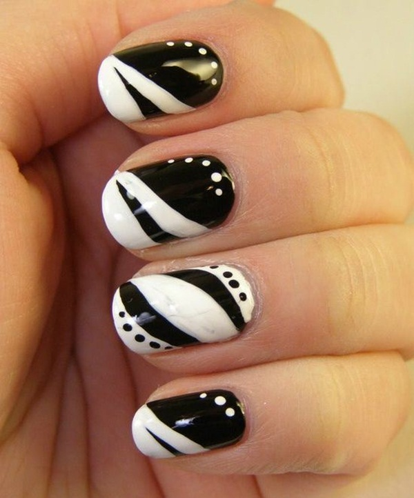 Most Attractive black and white nail art designs (38)