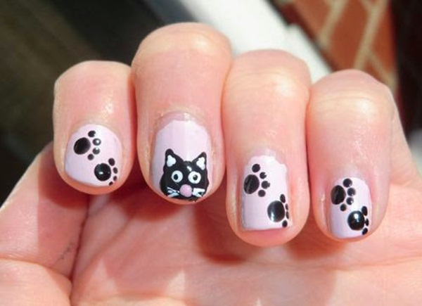 Most Attractive black and white nail art designs (39)