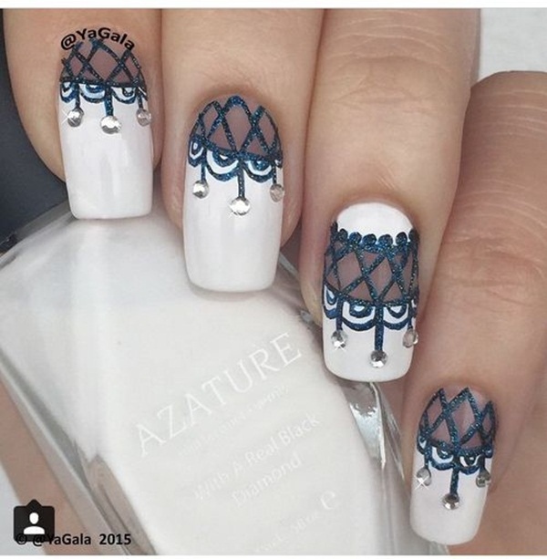 Most Attractive black and white nail art designs (4)