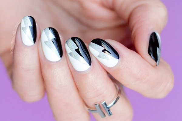 Most Attractive black and white nail art designs (44)