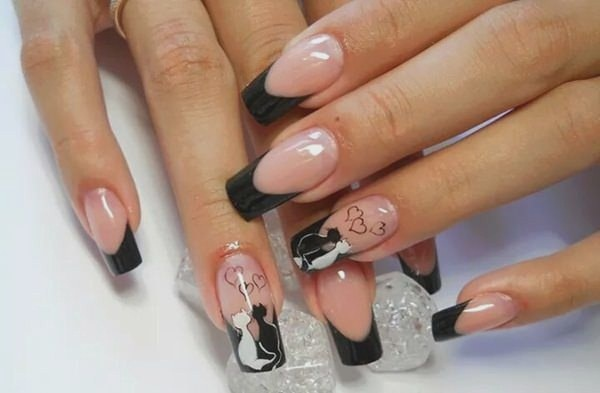 Most Attractive black and white nail art designs (45)