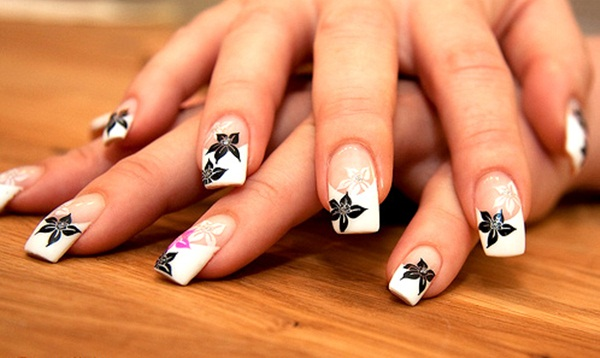 Most Attractive black and white nail art designs (48)