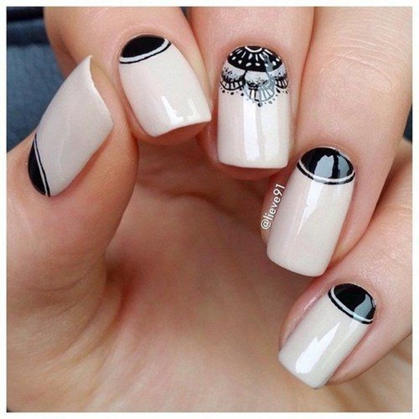 Most Attractive black and white nail art designs (5)