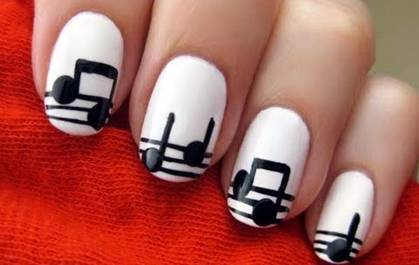 Most Attractive black and white nail art designs (52)