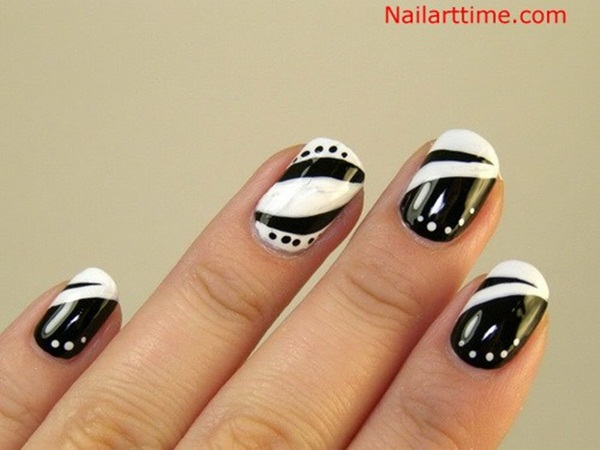 Most Attractive black and white nail art designs (53)