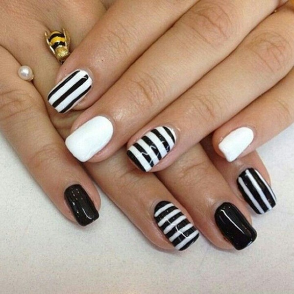 Most Attractive black and white nail art designs (56)