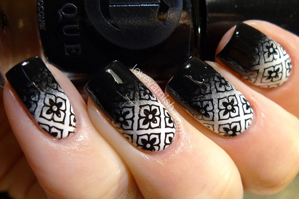 Most Attractive black and white nail art designs (58)