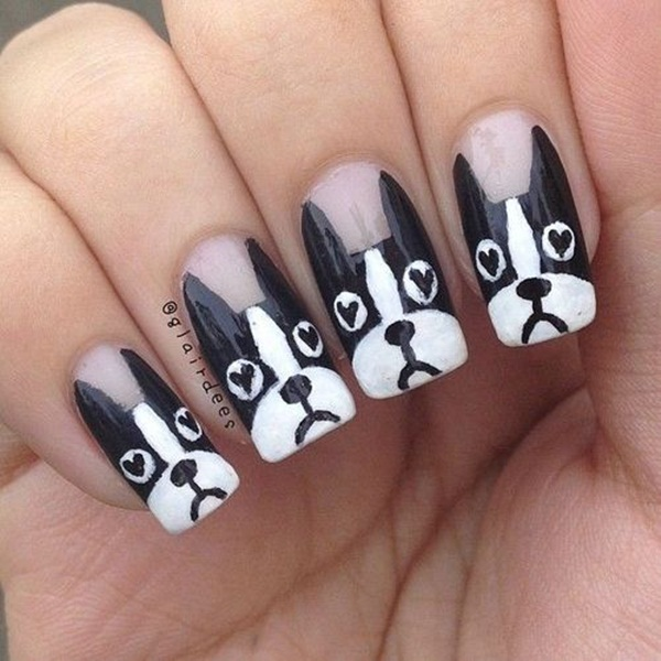 Most Attractive black and white nail art designs (59)