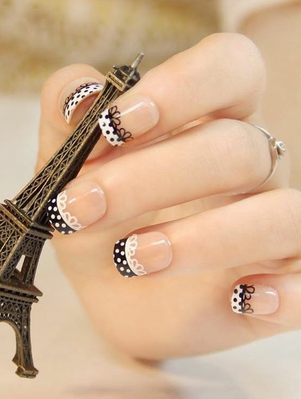 Most Attractive black and white nail art designs (60)