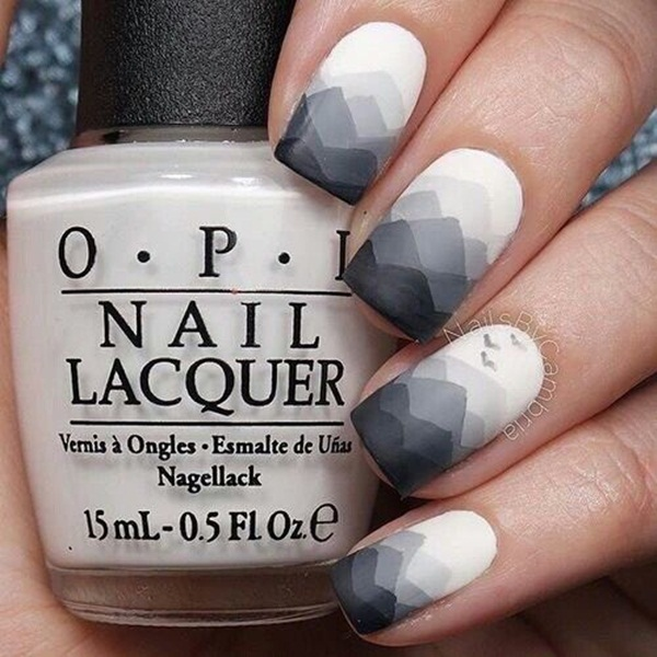 Most Attractive black and white nail art designs (66)