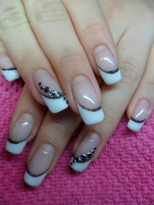 Most Attractive black and white nail art designs (69)