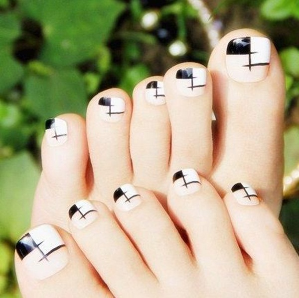 Most Attractive black and white nail art designs (7)
