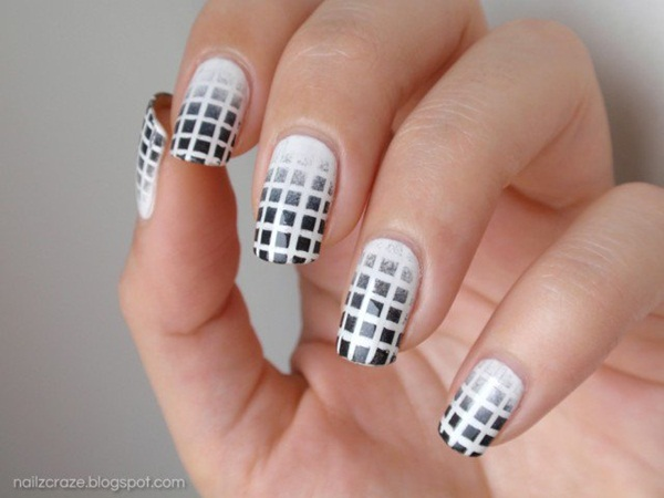 Most Attractive black and white nail art designs (77)