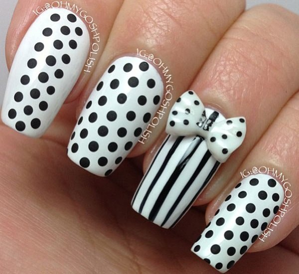 Most Attractive black and white nail art designs (79)