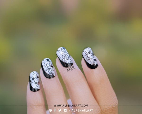 Most Attractive black and white nail art designs (81)